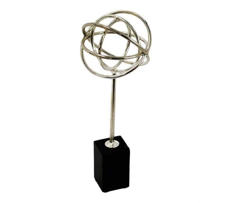ATLAS TABLE TOP DECOR SILVER