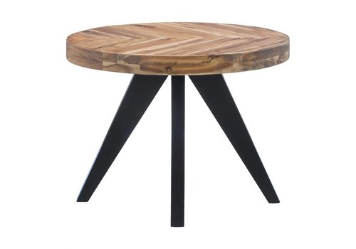 PARQ OVAL SIDE TABLE