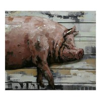COUNTRY PIG WALL DECOR