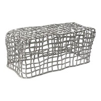 CAGE BENCH SILVER