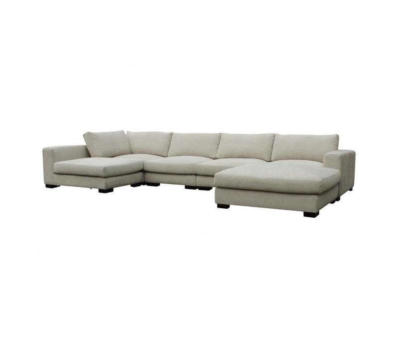 COLOMBO SECTIONAL CREAM WHITE