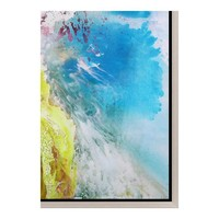 COLOR PATCH WALL DECOR W/FRAME