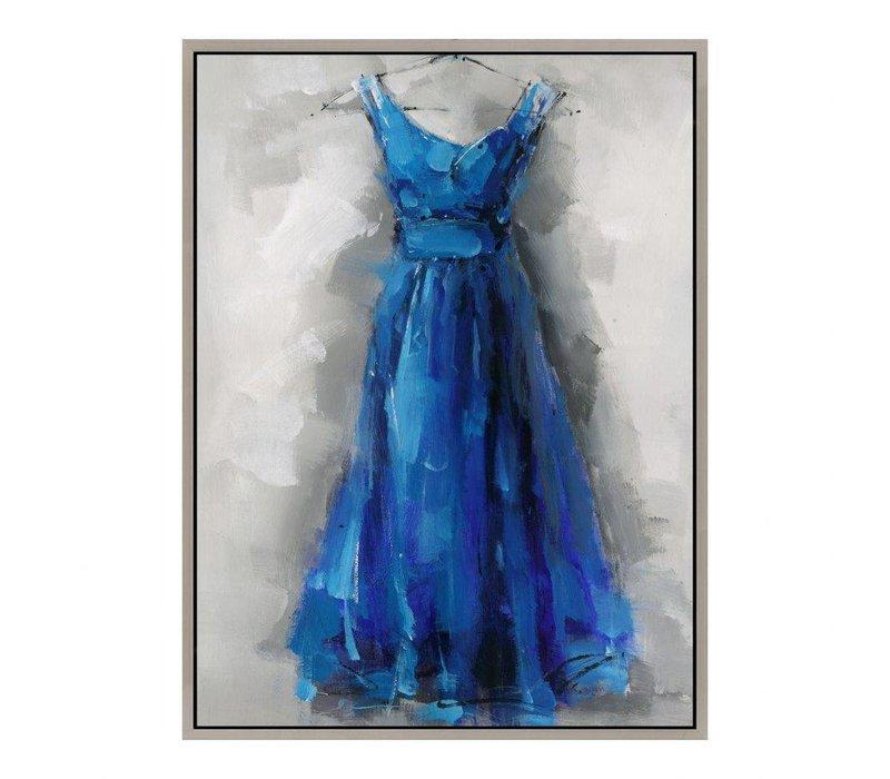 BLUE DRESS WALL DECOR
