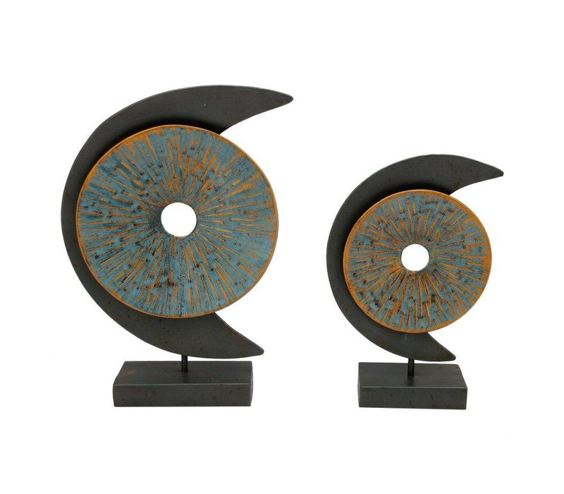 BLUE MOON SCULPTURE SET OF TWO