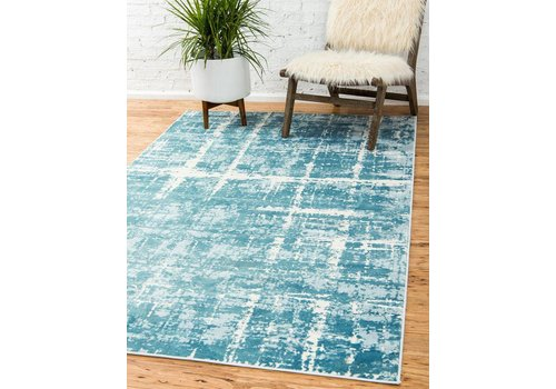Jill Zarin Rugs ™ LEXINGTON AVENUE IN TURQUOISE - JILL ZARIN RUGS ™
