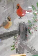 Cardinal Snow Fence Print 3.5 x 5 Card