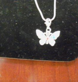 Silver Chain w Butterfly