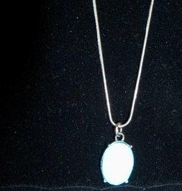 11 - Virginia Ackerman Silver and Aqua Necklace