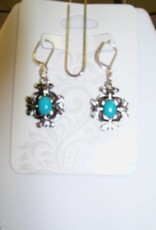 11 - Virginia Ackerman Silver and Turquoise Ear Rings