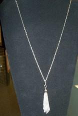11 - Virginia Ackerman Silver Tassel Necklace