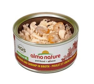 Almo Almo Chicken & Shrimp in Broth 70g