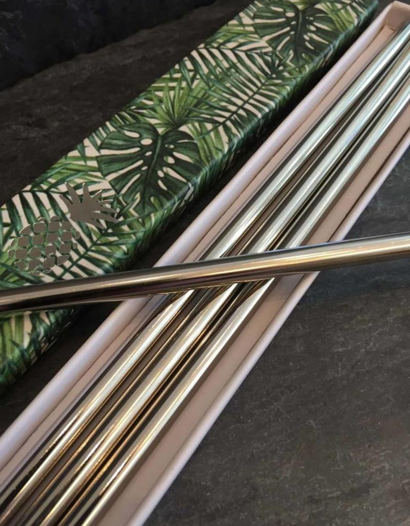W&P Design 10 in. Stainless Steel Straws