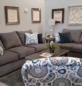 United Grandstand Flannel Sofa and Loveseat
