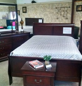 Crownmark Sleigh Bedroom - Full Size (Cherry)