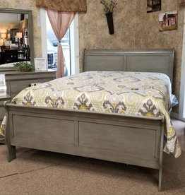 Crownmark Sleigh Bedroom - Full Size (Gray)
