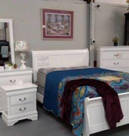Crownmark Sleigh Bedroom - Full Size (White)