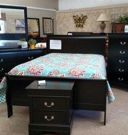 Crownmark Sleigh Bedroom - King Size (Black)