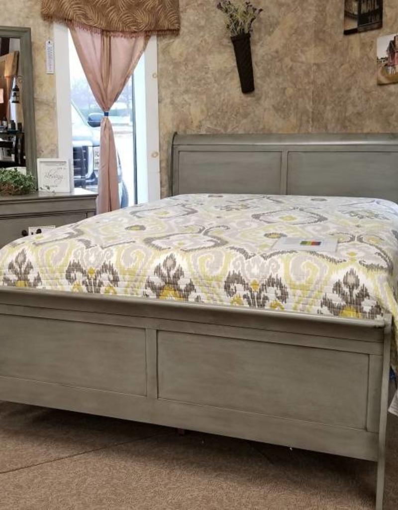 Crownmark Sleigh Bedroom - Queen Size (Gray)