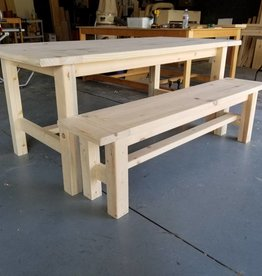 Bargain Bunks Farmhouse Table Additional Bench Add-on - Unfinished