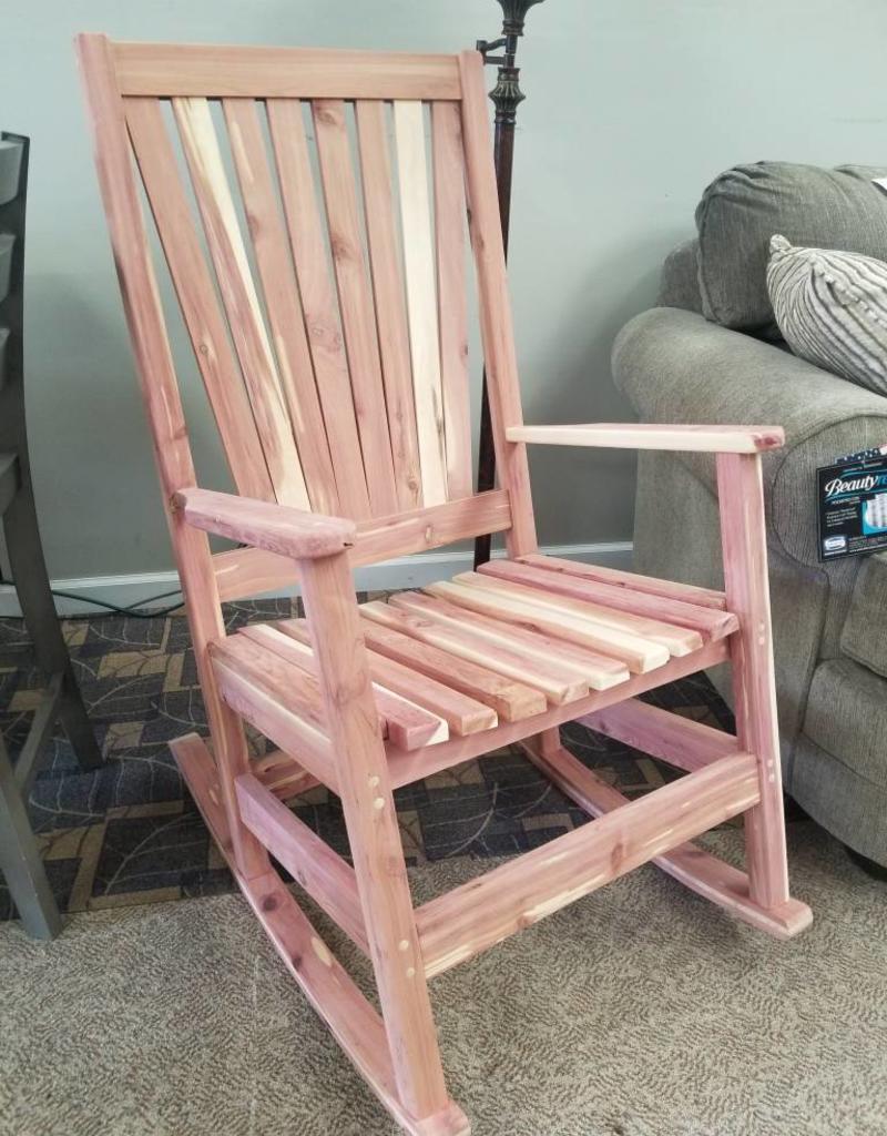 Family Woodworking Rocker: Cedar Rocking Chair