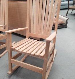 Family Woodworking Rocker: Oak Outdoor Rocking Chair