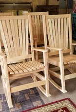 Family Woodworking Pair of Oak Rockers