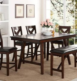 crownmark vernon dining table w 6 chairs great transitional farmhouse table in counter height - Farmhouse Counter Height Table