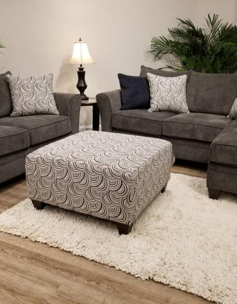Albany Pewter Chofa,  loveseat & cocktail ottoman