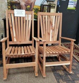 Family Woodworking Pair of Cedar Rockers: Cedar Rocking Chair