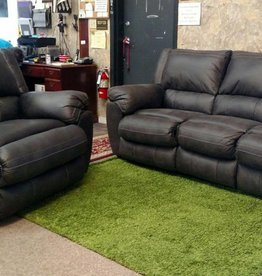 United Shiloh Granite Sofa and Power Rocker-Recliner