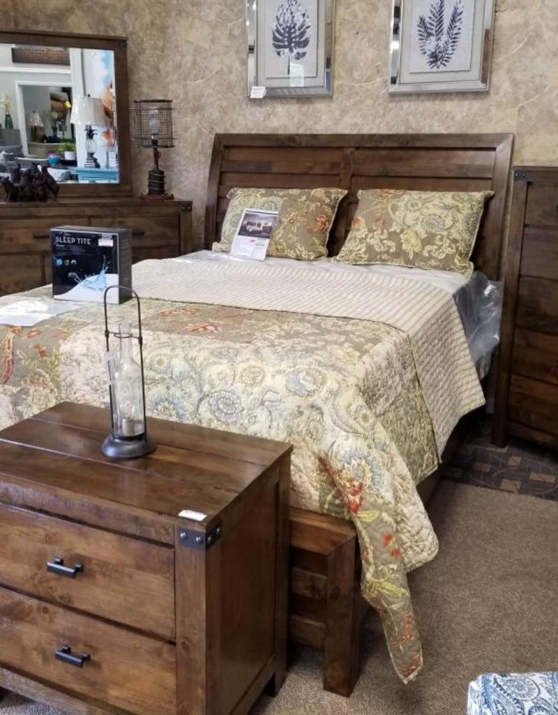 Crownmark Curtis Sleigh Bedroom Set   Queen Size