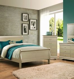Crownmark Sleigh Bedroom - King Size (Champagne)