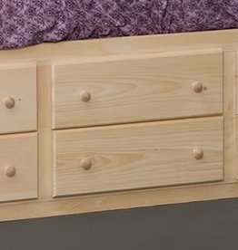 Fighting Creek Captain's Drawers: 6 drawer storage unfinished