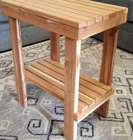 Family Woodworking Cedar outdoor side table