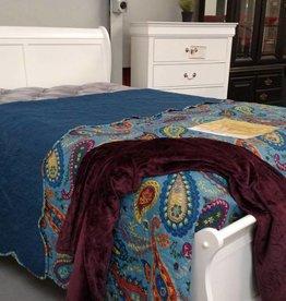 Crownmark Louis Philipe Sleigh Full Bed White