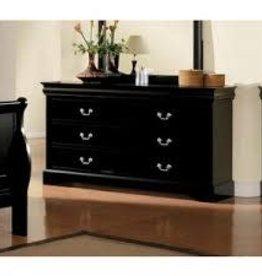 Crownmark Louis Philipe Sleigh Dresser - Black