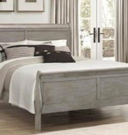 Crownmark Louis Philipe Sleigh Queen Bed - Gray
