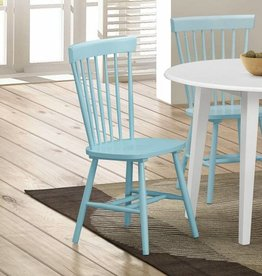 Crownmark Pair of  Shelli Aqua Turquoise Chairs