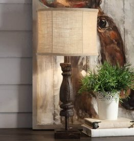 Crestview Wooden Relic Distressed Table Lamp w/ shade