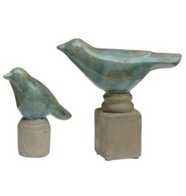 Crestview Set of 2 Ceramic Bird Figurines