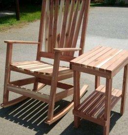 Family Woodworking Cedar Rocker w/ Side Table