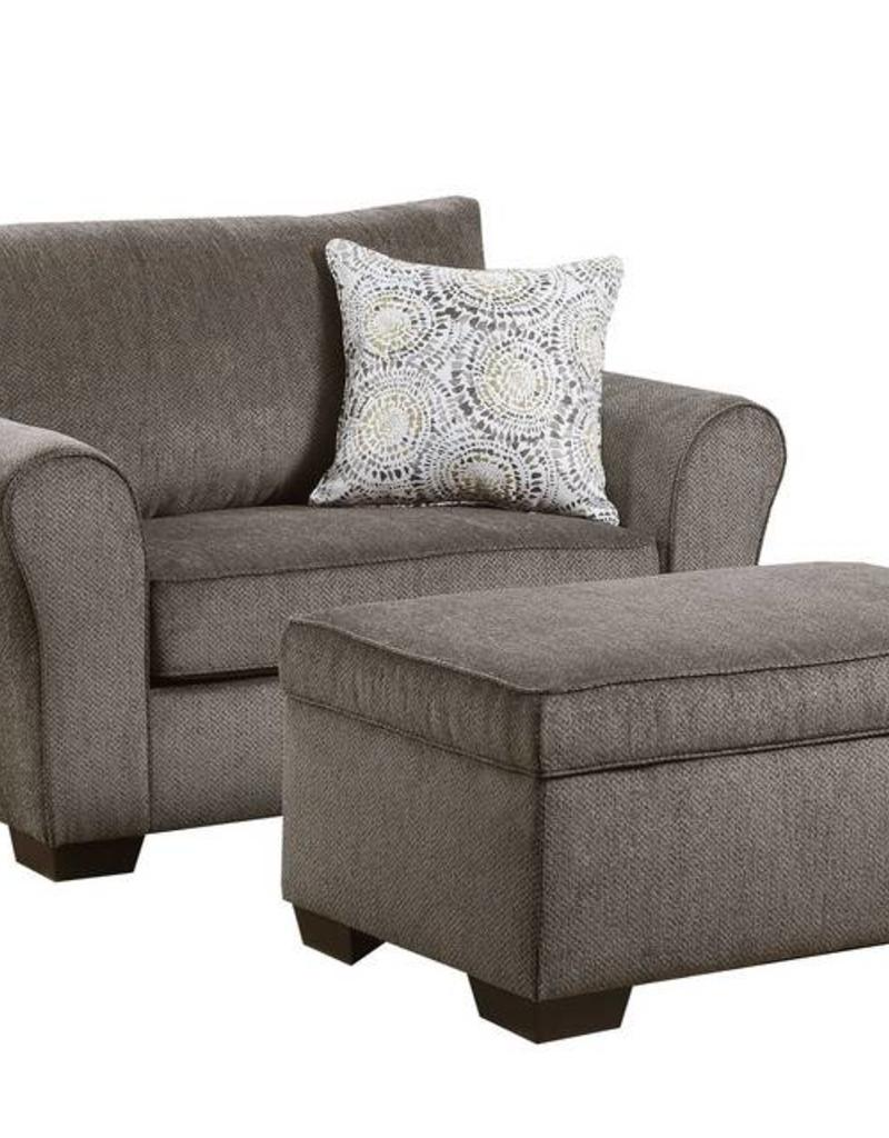United Harlow Ash Chair 1/2 And Ottoman ...