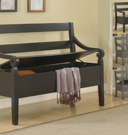 Crownmark Kennedy Storage Bench: Gray
