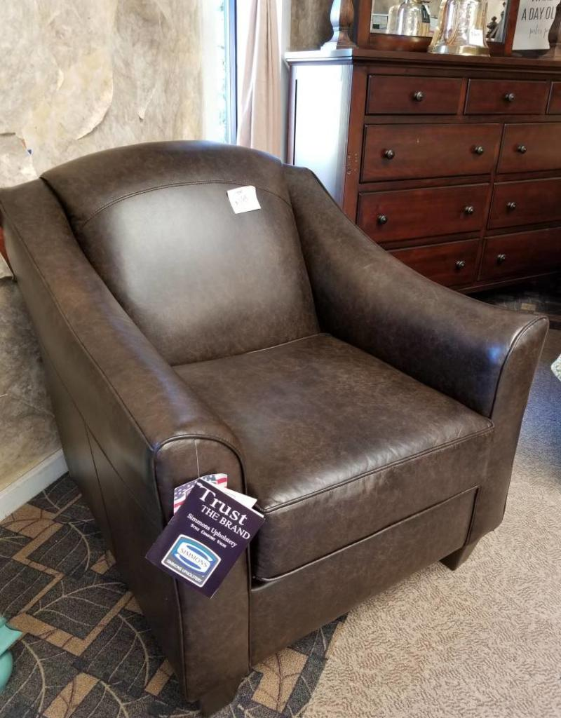 United Craddock Antique Brown Accent Chair