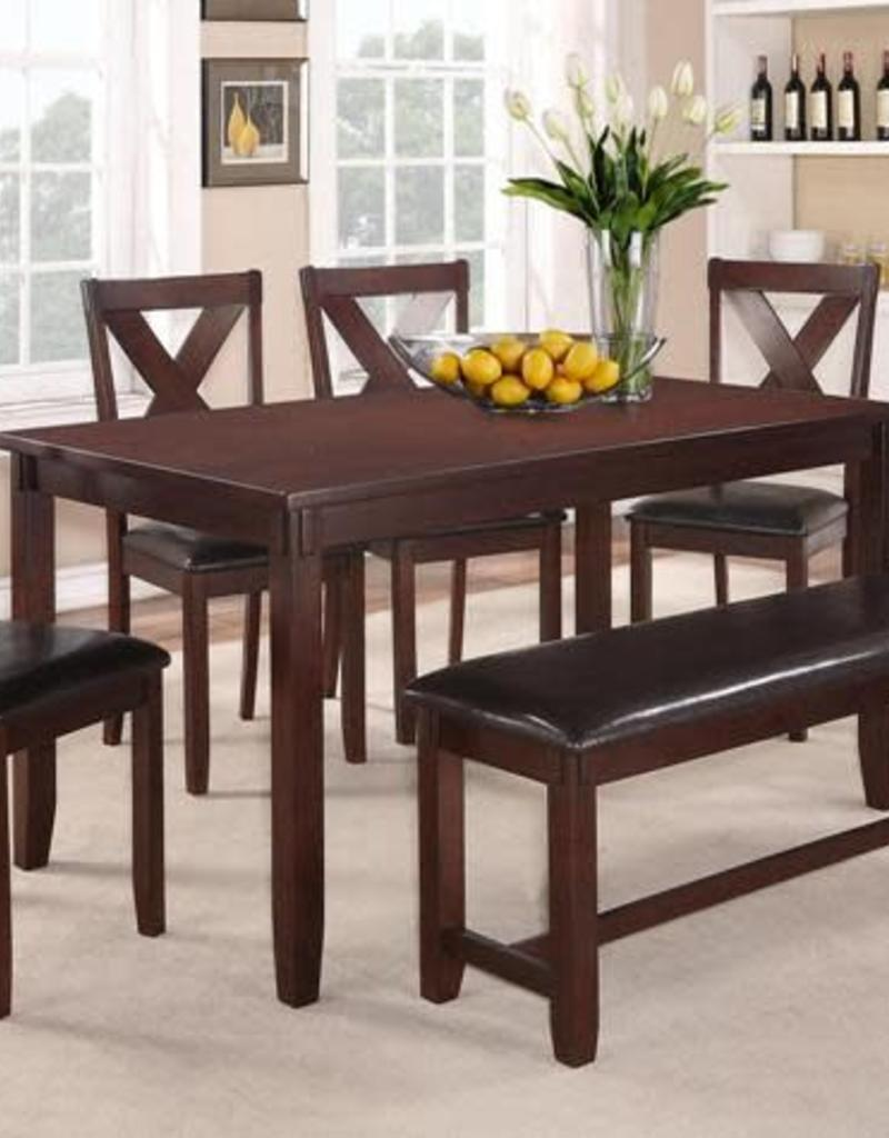 Crownmark Clara Dining Table W 4 Chairs And Bench Espresso