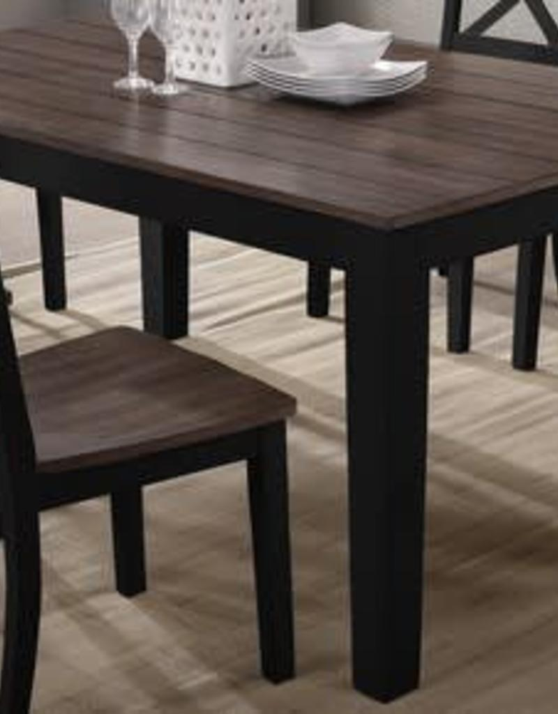 United A La Carte Rectangular Dining Table Black