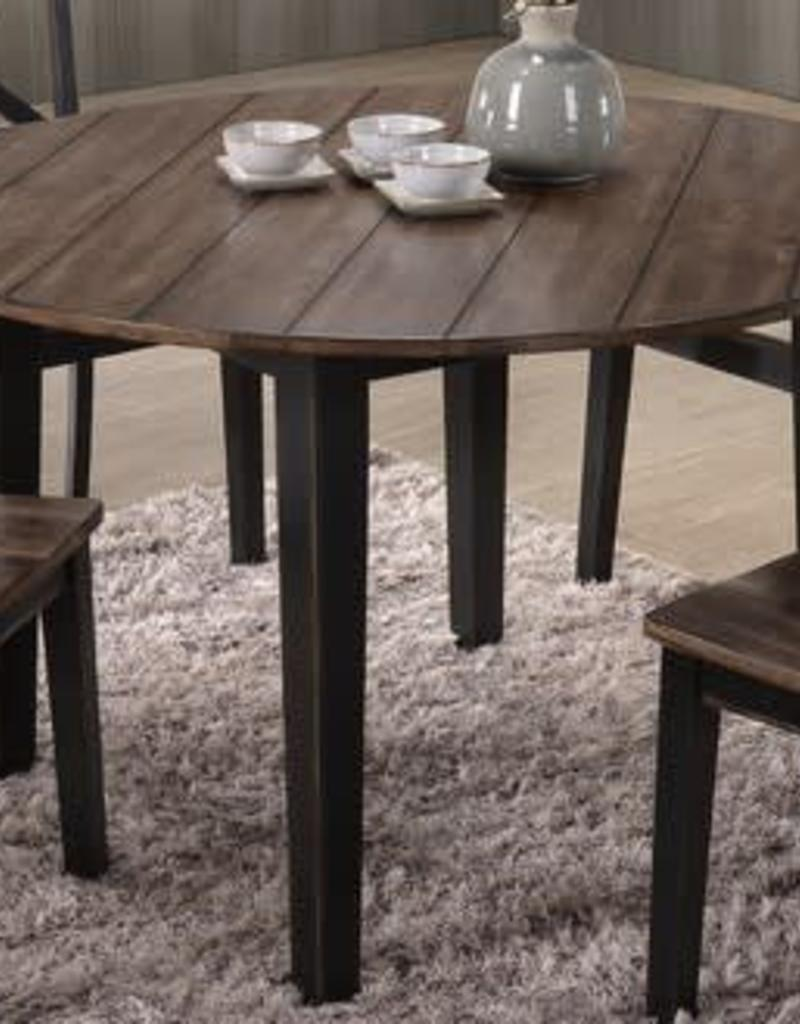 United a la carte round farmhouse dining table black