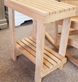 Family Woodworking Oak Outdoor Side Table