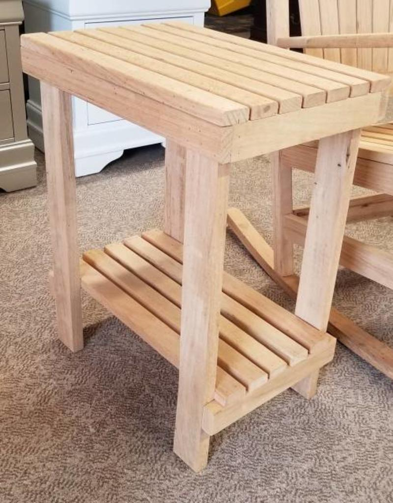 Family Woodworking Oak Outdoor Side Table - Oak Outdoor Side Table - Bargain Box And Bunks