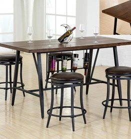 Crownmark David Counter-Height Dining Table w/ 4 Stools